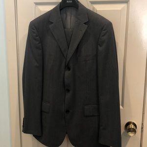Hugo Boss Pinstriped Men's Grey suit
